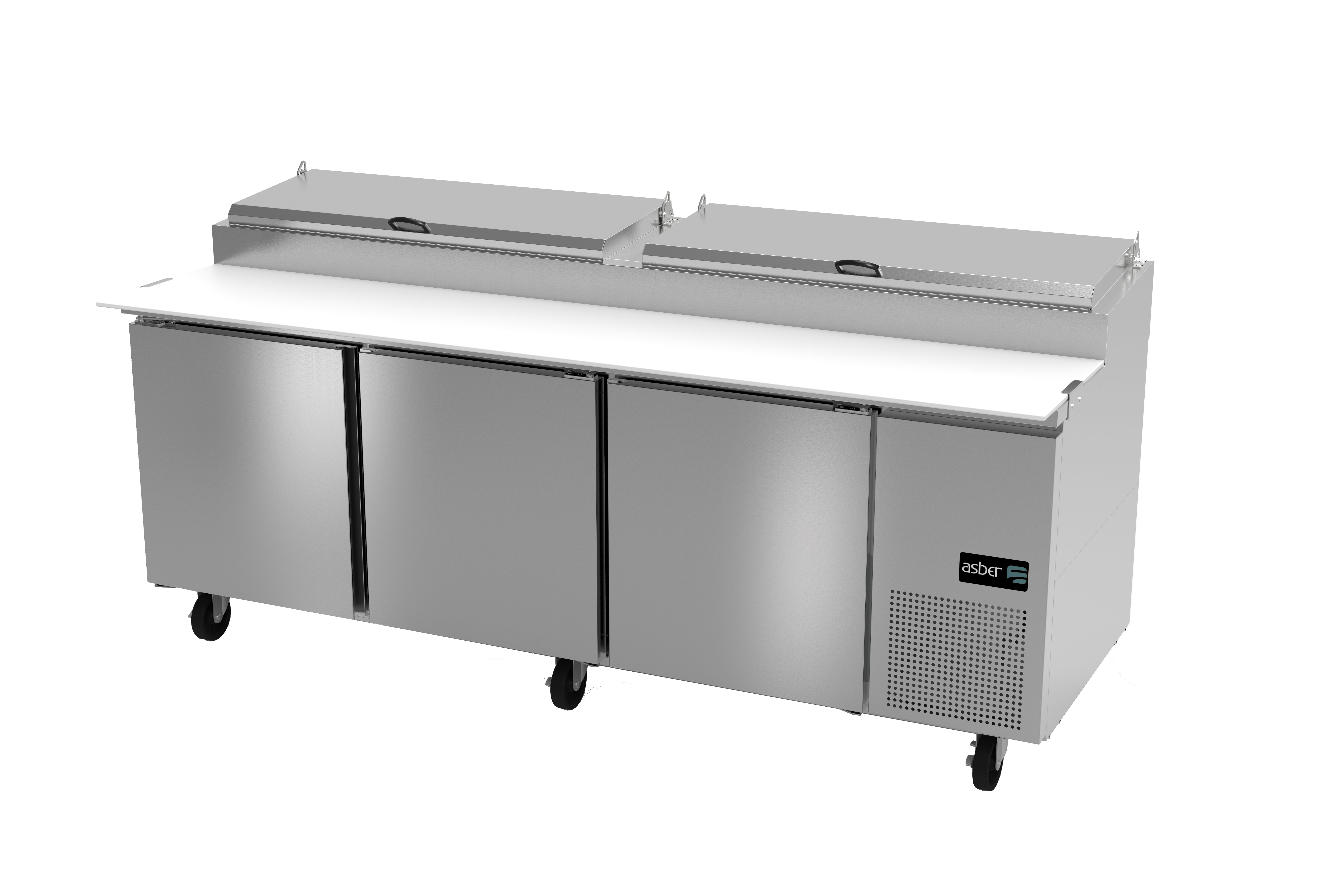 Asber APTP-93 refrigerated counter, pizza prep table