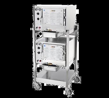 AccuTemp S32403D110 DBL steamer, convection, electric, boilerless, floor model