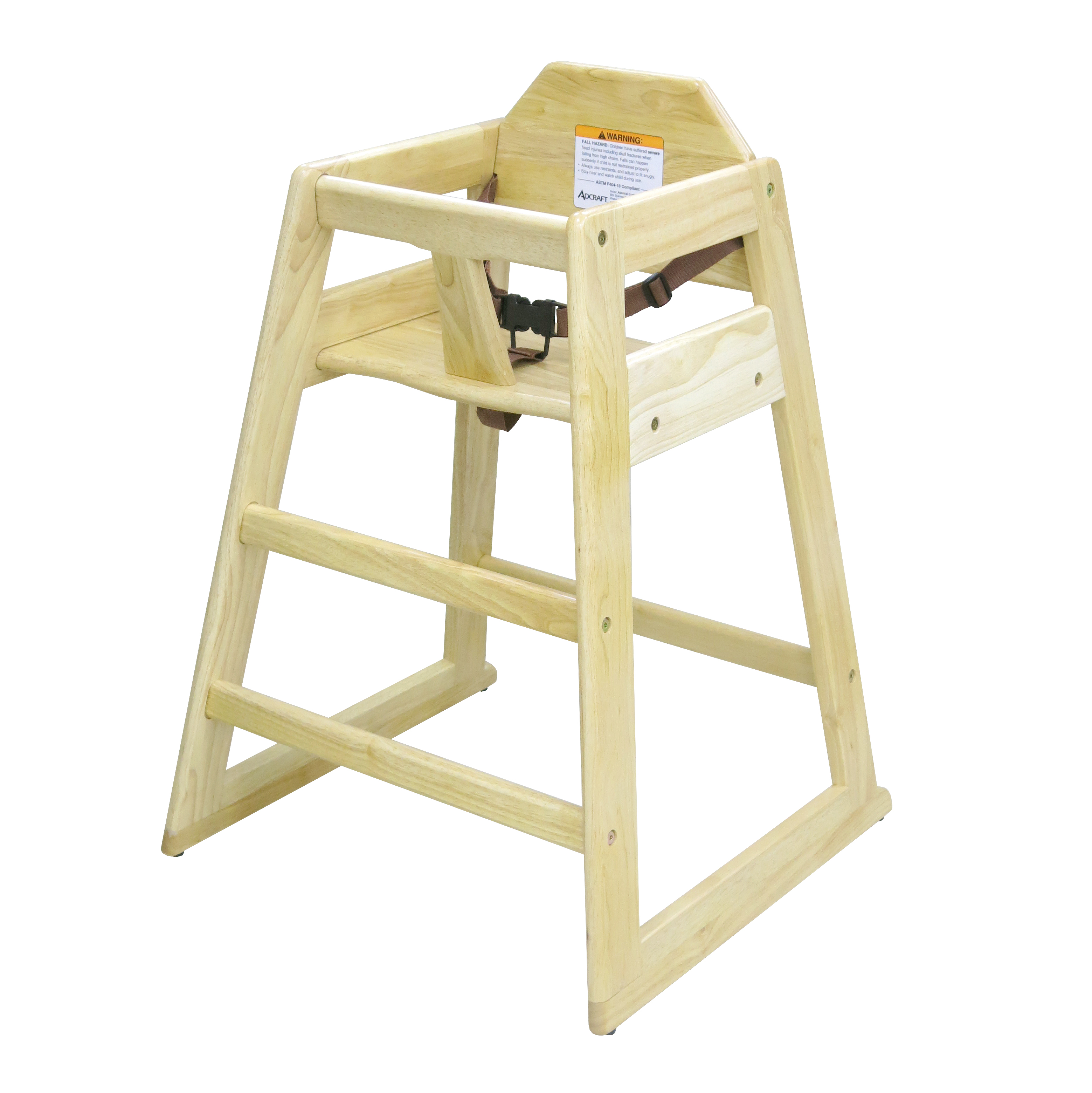 Admiral Craft HCW-1 high chair, wood