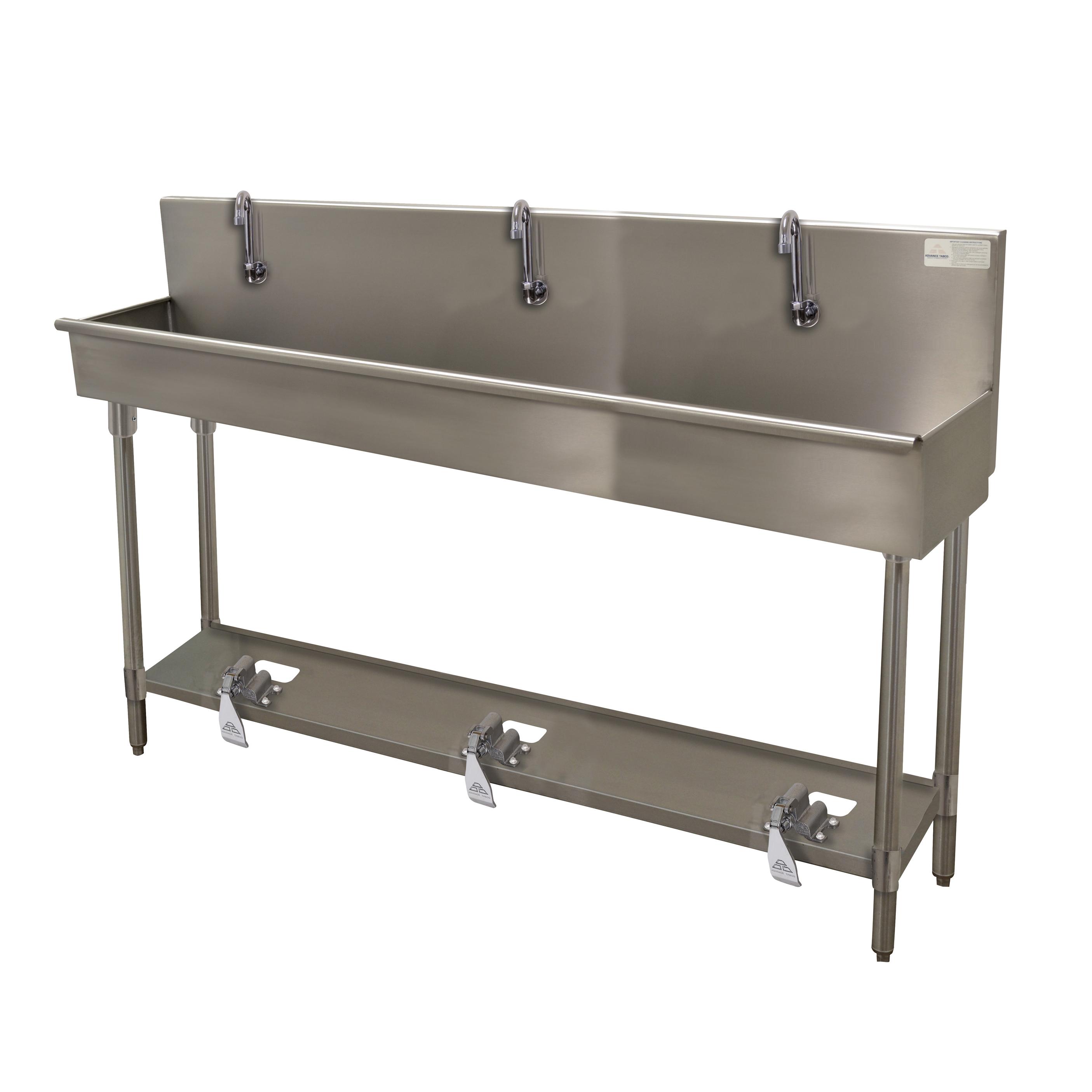 Advance Tabco 19-FM-60FV sink, hand