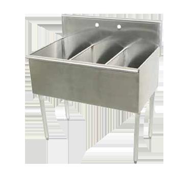 Advance Tabco 4-3-36 sink, (3) three compartment