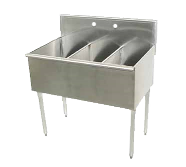 Advance Tabco 6-3-54-X sink, (3) three compartment