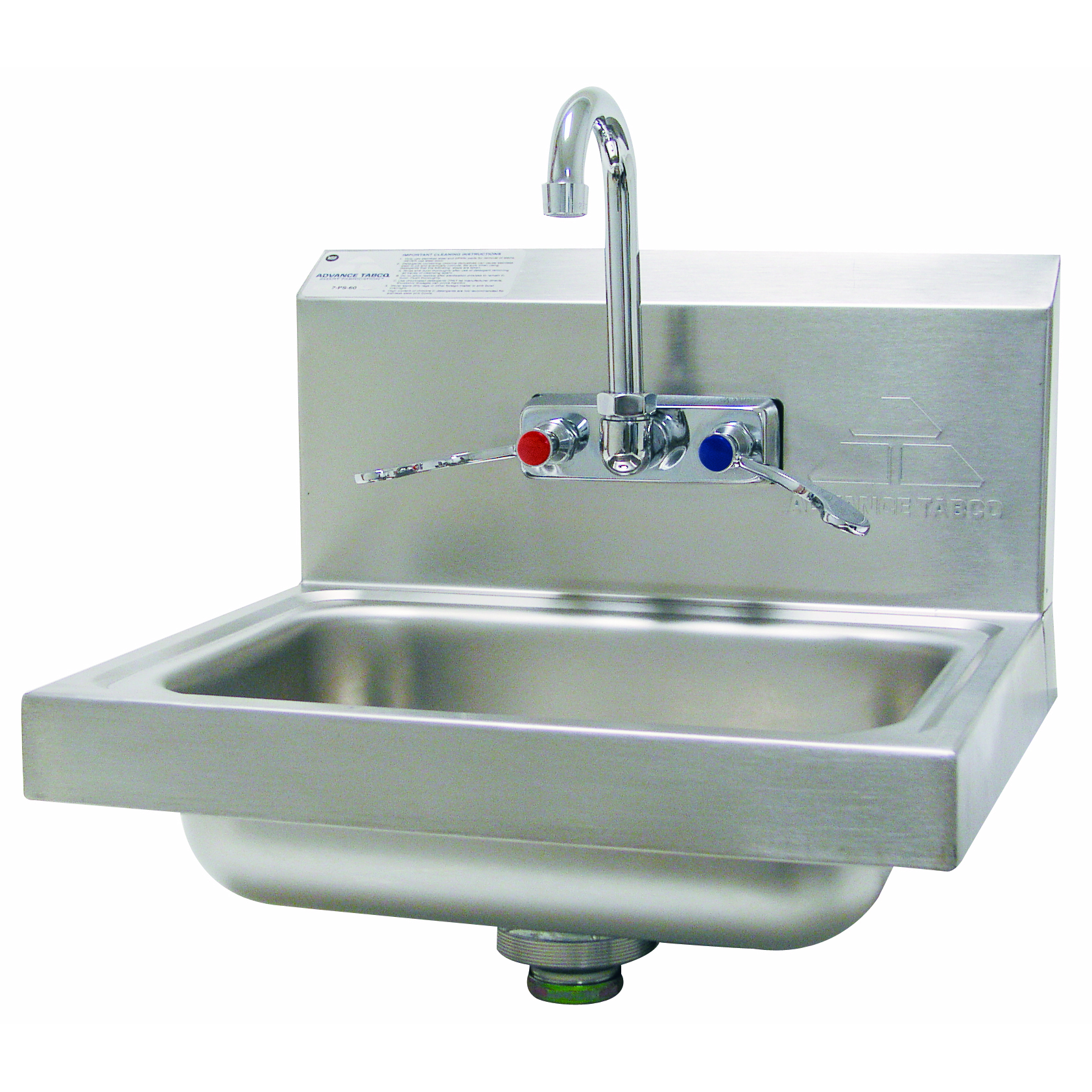 Advance Tabco 7-PS-68-2X sink, hand