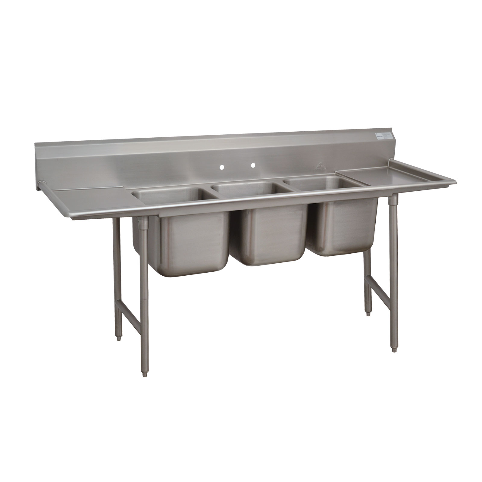 Advance Tabco 93-23-60-36RL sink, (3) three compartment