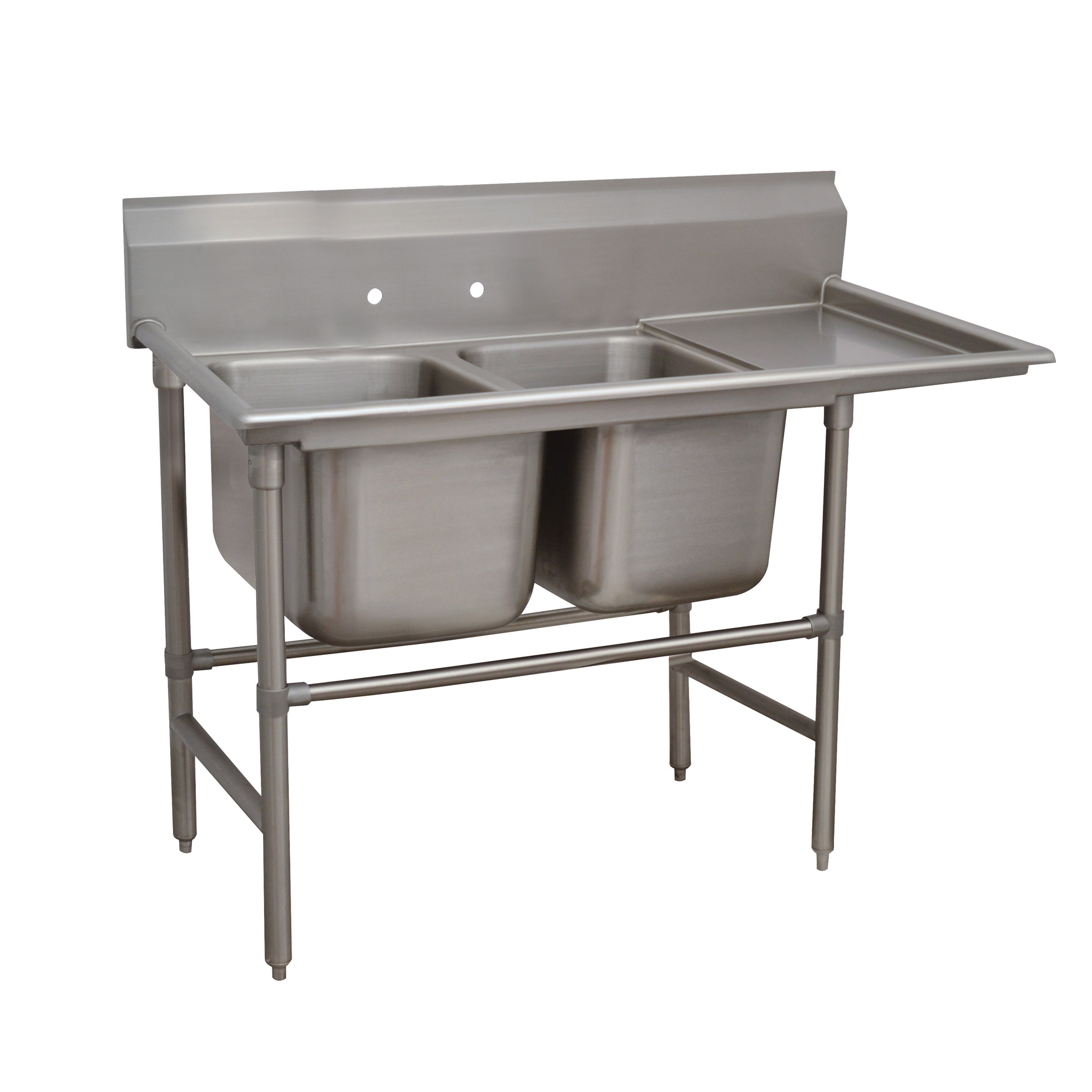 Advance Tabco 94-22-40-18R sink, (2) two compartment