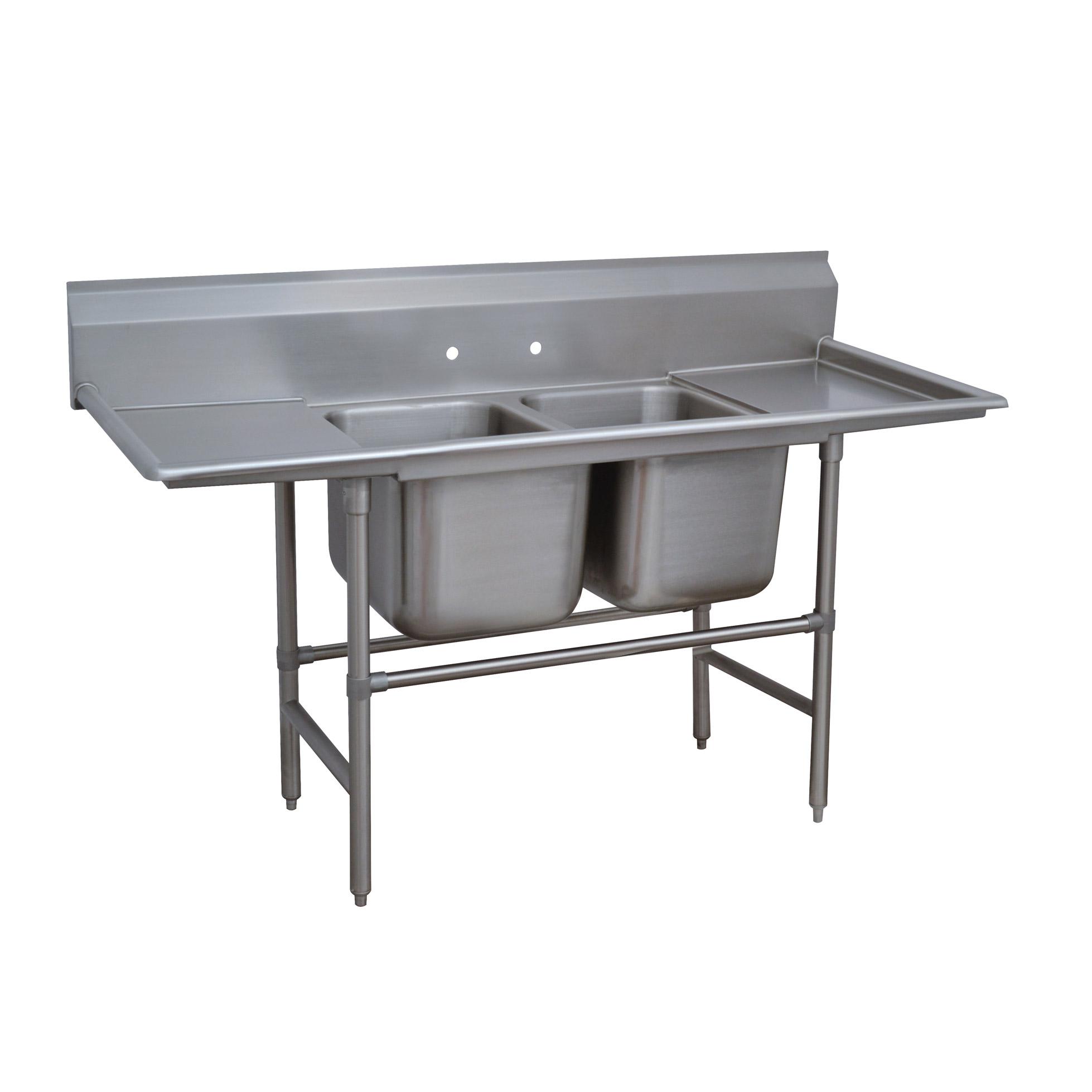 Advance Tabco 94-22-40-18RL sink, (2) two compartment