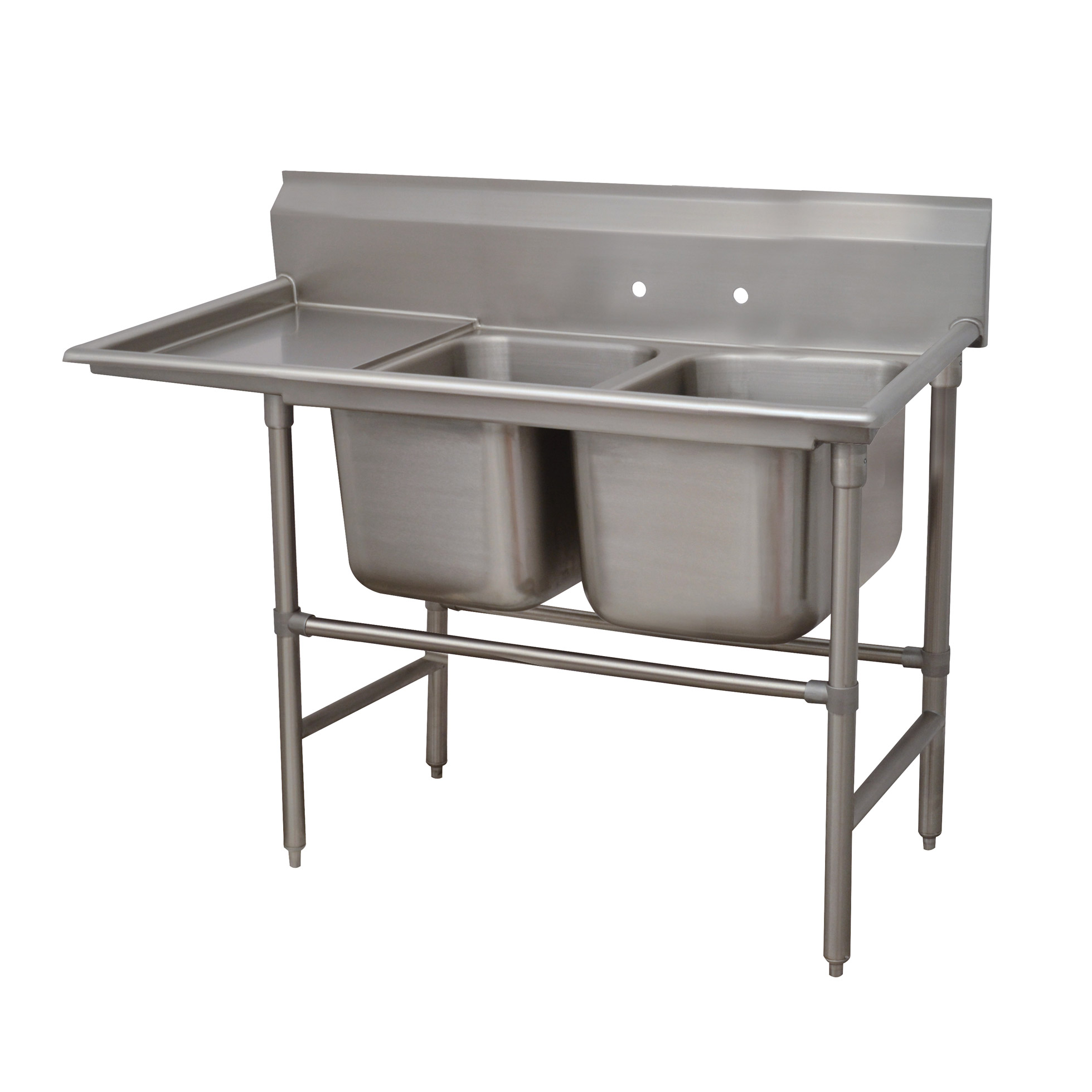 Advance Tabco 94-2-36-36L sink, (2) two compartment