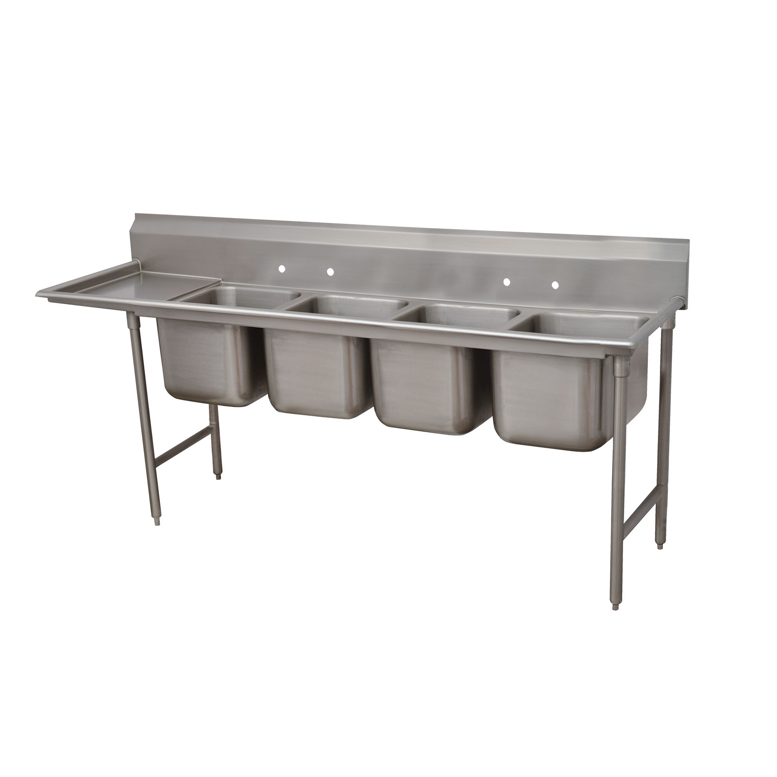 Advance Tabco 9-4-72-18L sink, (4) four compartment