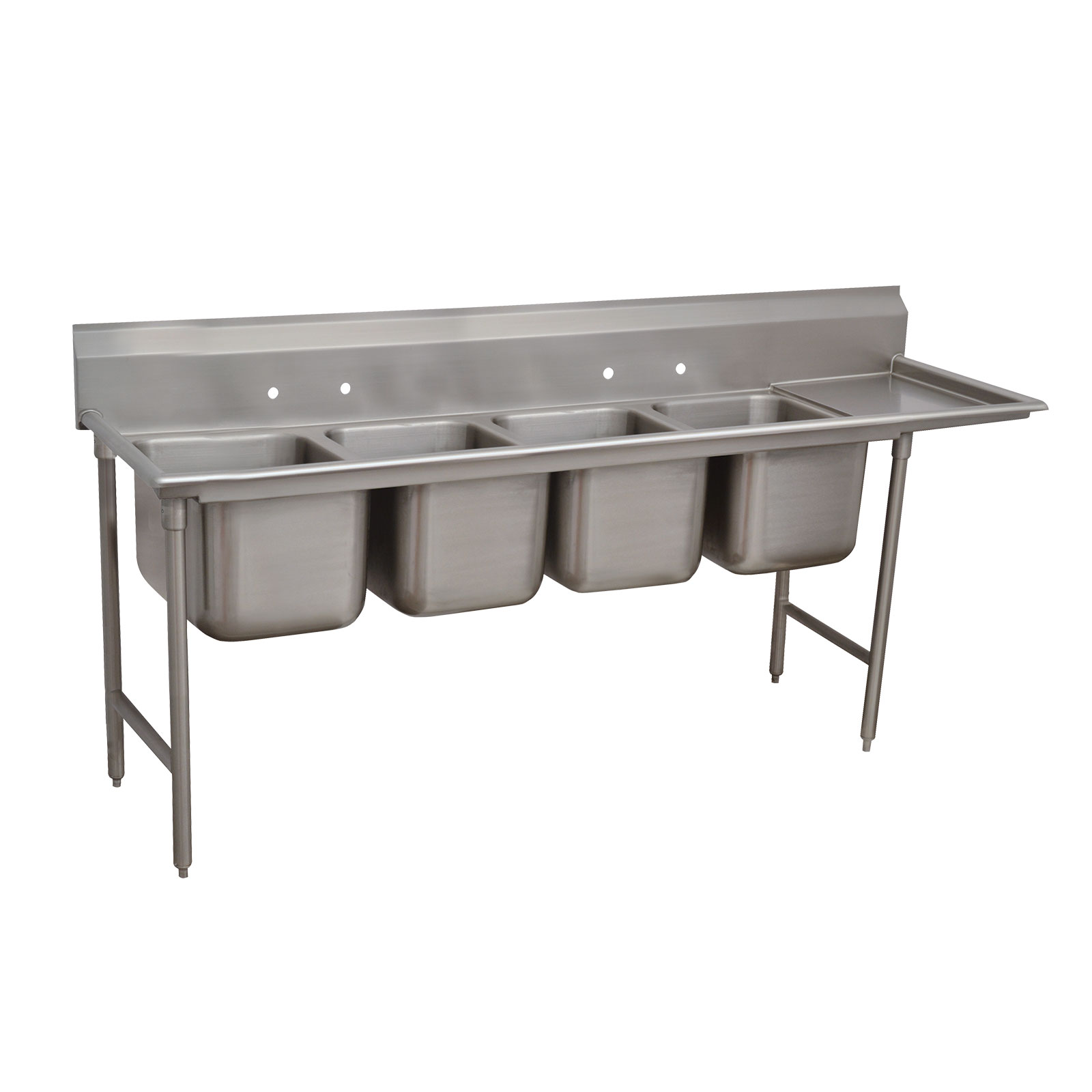 Advance Tabco 9-4-72-18R sink, (4) four compartment
