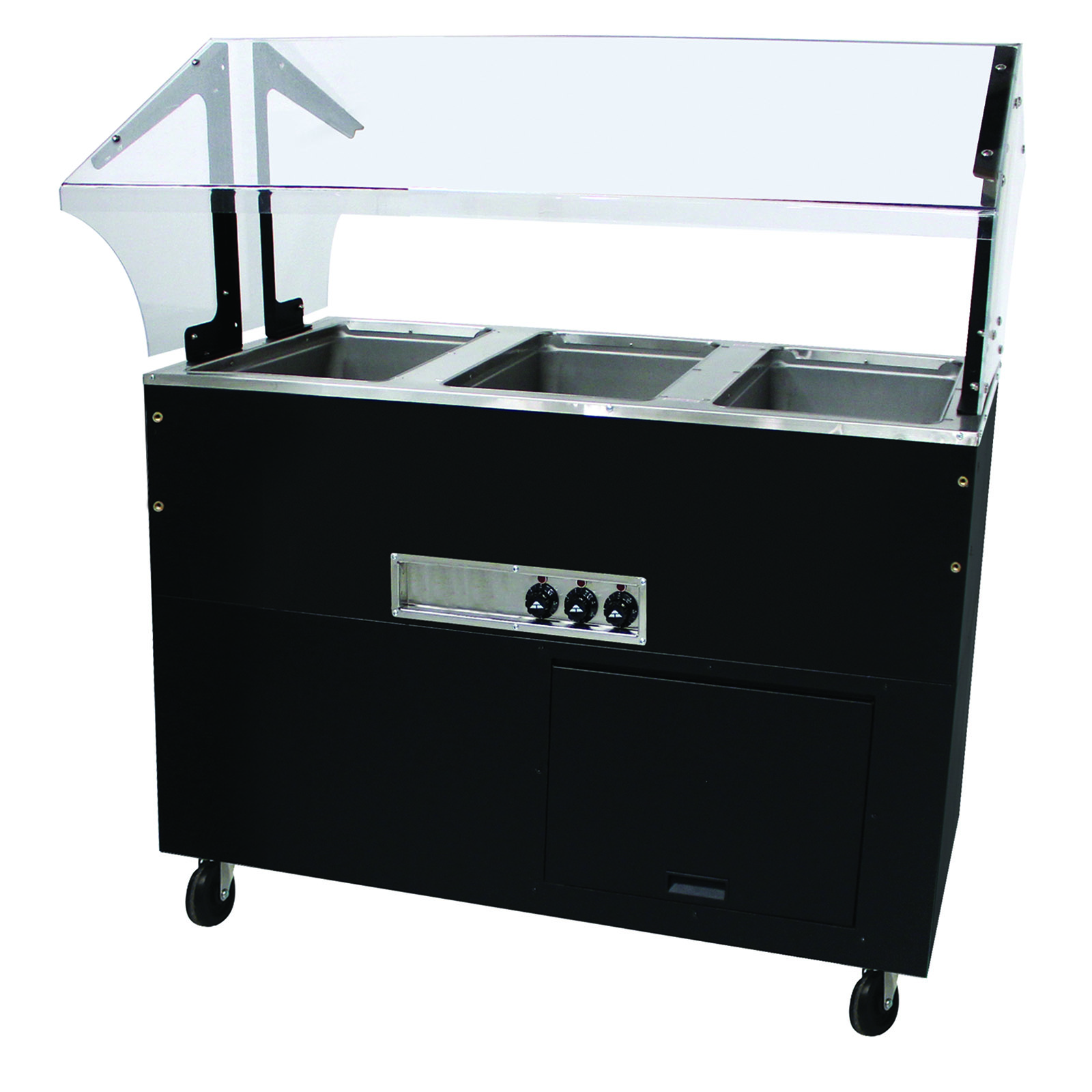 Advance Tabco BSW3-240-B-SB serving counter, hot food, electric