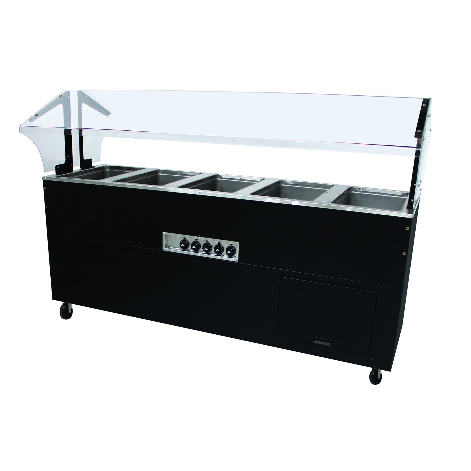 Advance Tabco BSW5-240-B-SB serving counter, hot food, electric