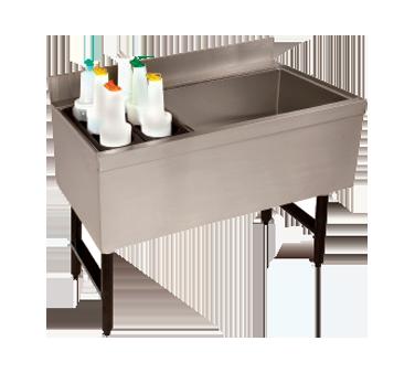 Advance Tabco CRCI-36L underbar ice bin/cocktail station, bottle well bin