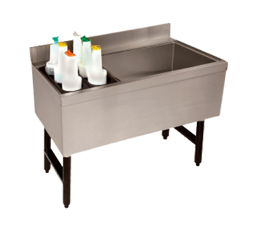 Advance Tabco CRCI-48L underbar ice bin/cocktail station, bottle well bin