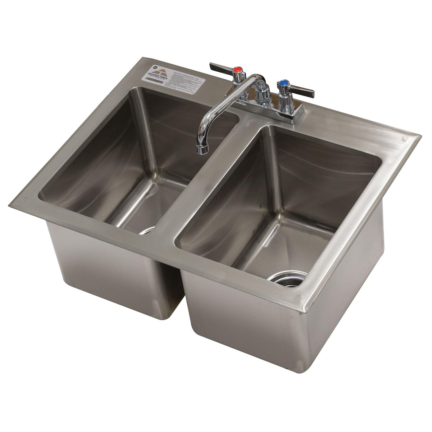 Advance Tabco DI-2-10-EC-X sink, drop-in
