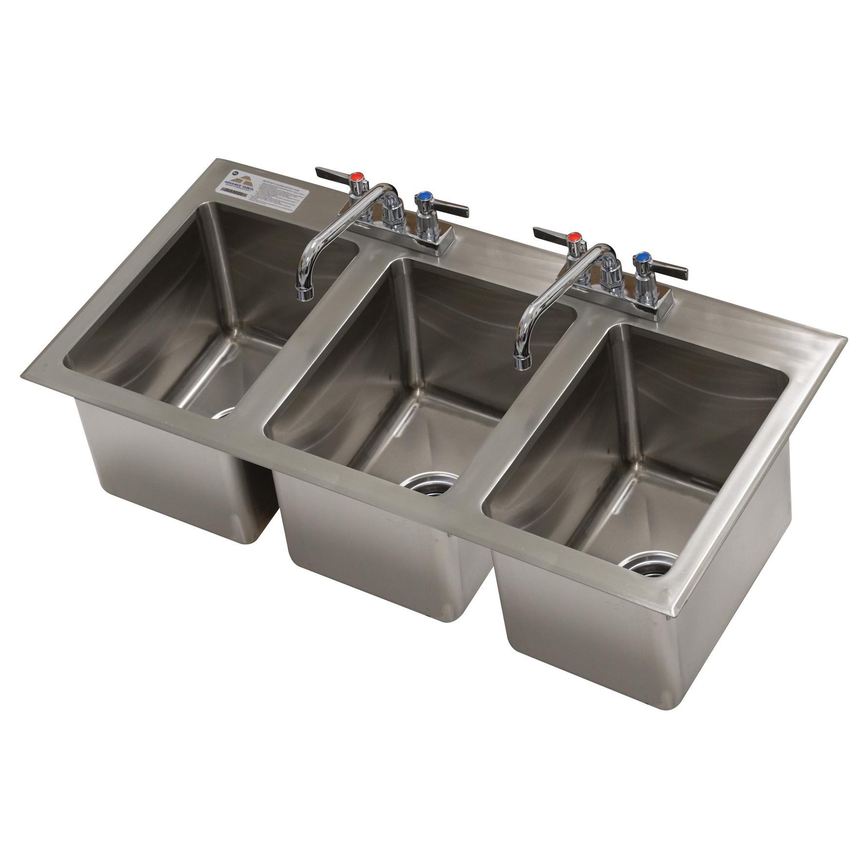 Advance Tabco DI-3-10-EC-X sink, drop-in