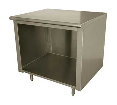 Advance Tabco EB-SS-305 work table, cabinet base open front