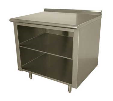 Advance Tabco EF-SS-243M work table, cabinet base open front