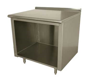 Advance Tabco EF-SS-308 work table, cabinet base open front