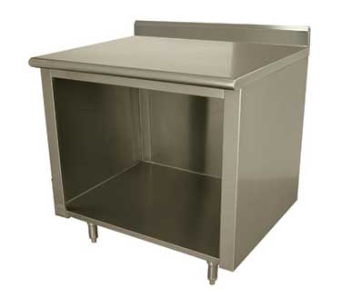 Advance Tabco EK-SS-2412 work table, cabinet base open front
