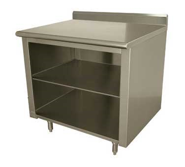 Advance Tabco EK-SS-306M work table, cabinet base open front