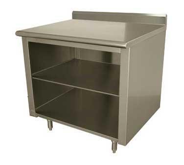 Advance Tabco EK-SS-365M work table, cabinet base open front