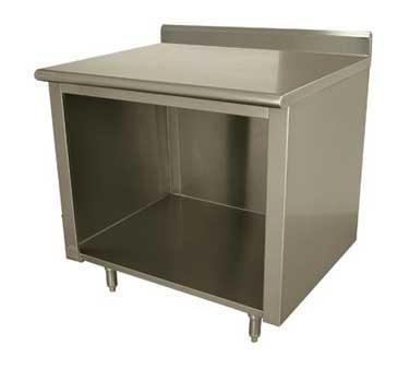 Advance Tabco EK-SS-366 work table, cabinet base open front