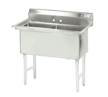 Advance Tabco FC-2-2424-X sink, (2) two compartment