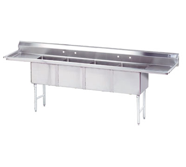 Advance Tabco FC-4-2424-24RL sink, (4) four compartment