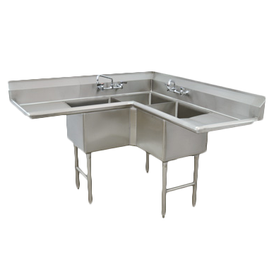 Advance Tabco FC-K6-18D-X sink, corner, compartment