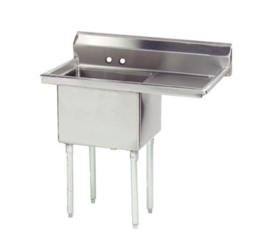 Advance Tabco FE-1-1620-18R-X sink, (1) one compartment