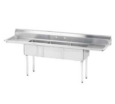 Advance Tabco FE-3-1620-18RL-X sink, (3) three compartment