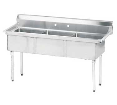 Advance Tabco FE-3-1620-X sink, (3) three compartment