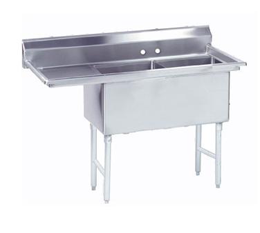 Advance Tabco FS-2-1824-18L sink, (2) two compartment