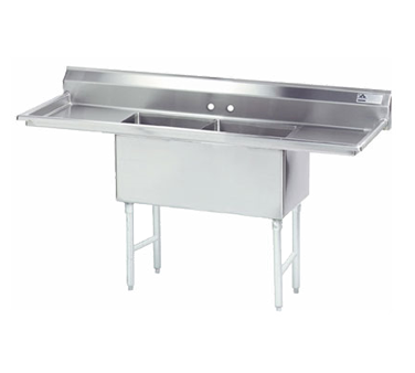 Advance Tabco FS-2-2424-24RL sink, (2) two compartment