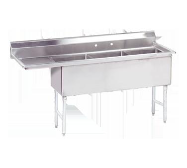 Advance Tabco FS-3-1824-18L sink, (3) three compartment