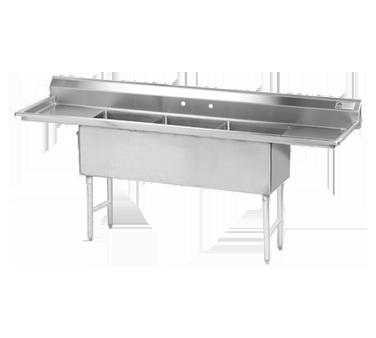 Advance Tabco FS-3-1824-24RL sink, (3) three compartment