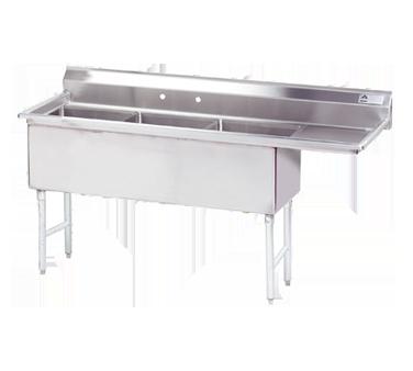 Advance Tabco FS-3-2424-24R sink, (3) three compartment
