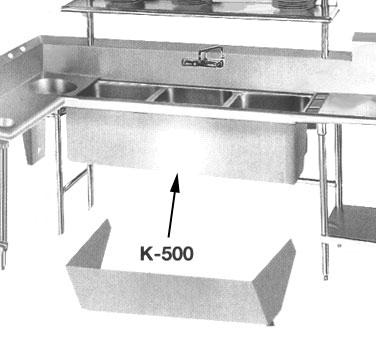 Advance Tabco K-500 sink apron