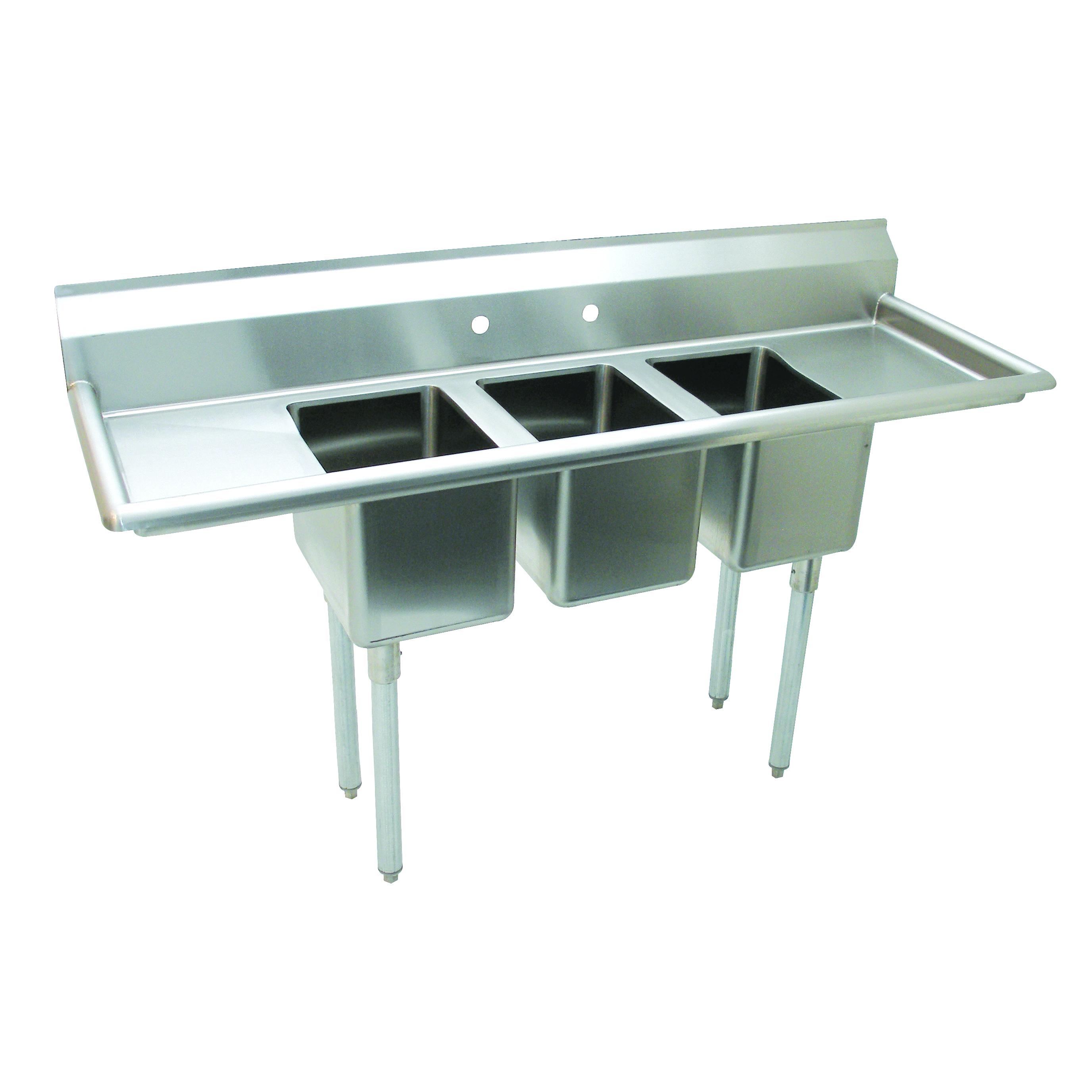 Advance Tabco K7-CS-21-EC-X sink, (3) three compartment