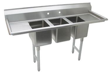 Advance Tabco K7-CS-29 sink, (3) three compartment