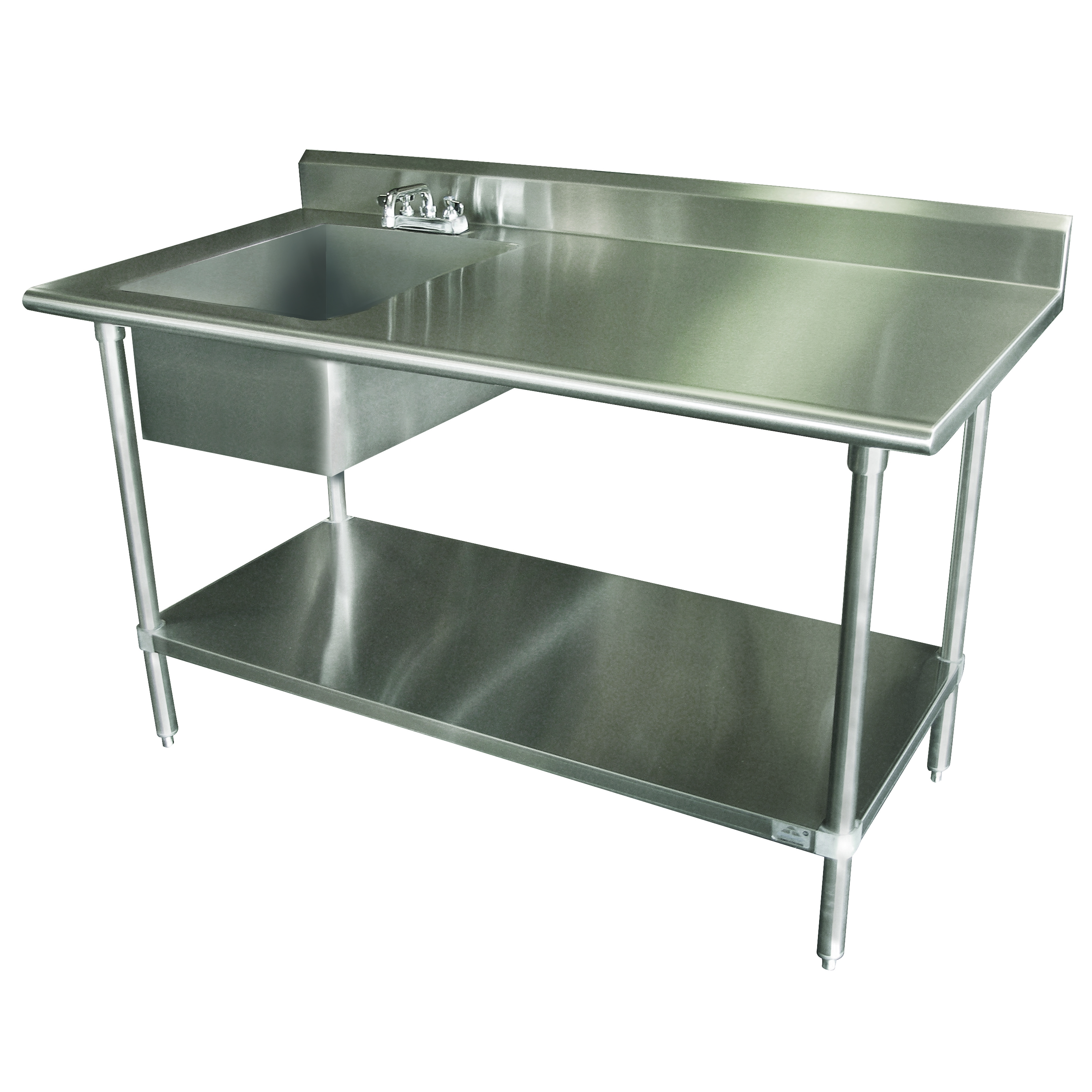 Advance Tabco KLAG-11B-306L-X work table, with prep sink(s)