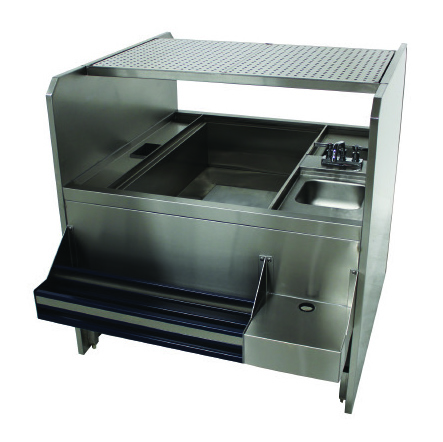 Advance Tabco PR-44X42SP-10-R underbar ice bin/cocktail station, pass-thru combo