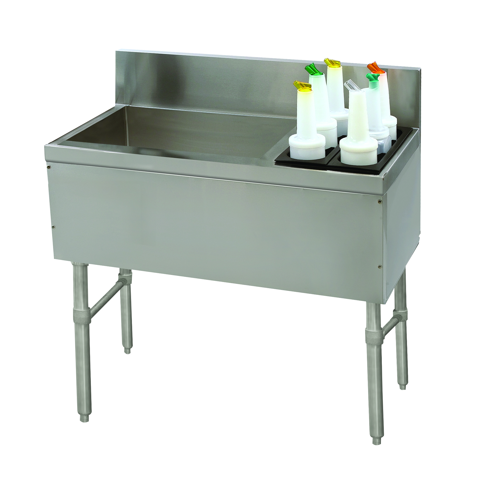 Advance Tabco PRC-19-42L underbar ice bin/cocktail station, bottle well bin
