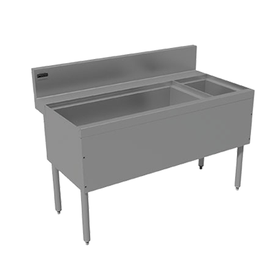 Advance Tabco PRC-24-42L underbar ice bin/cocktail station, bottle well bin