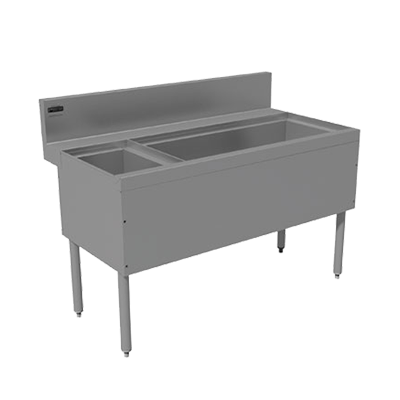 Advance Tabco PRC-24-48R-10 underbar ice bin/cocktail station, bottle well bin