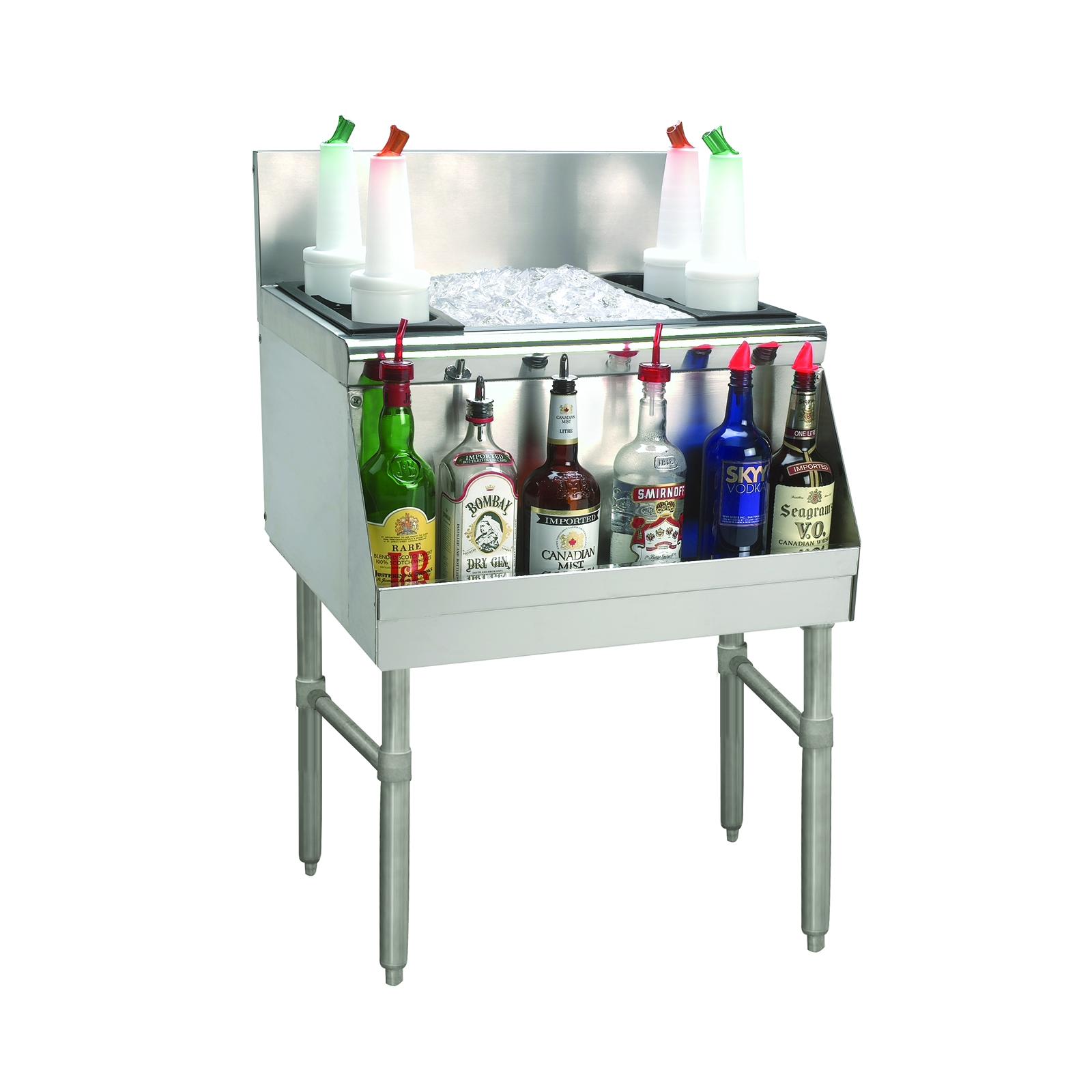Advance Tabco PRI-24-30-10D underbar ice bin/cocktail unit
