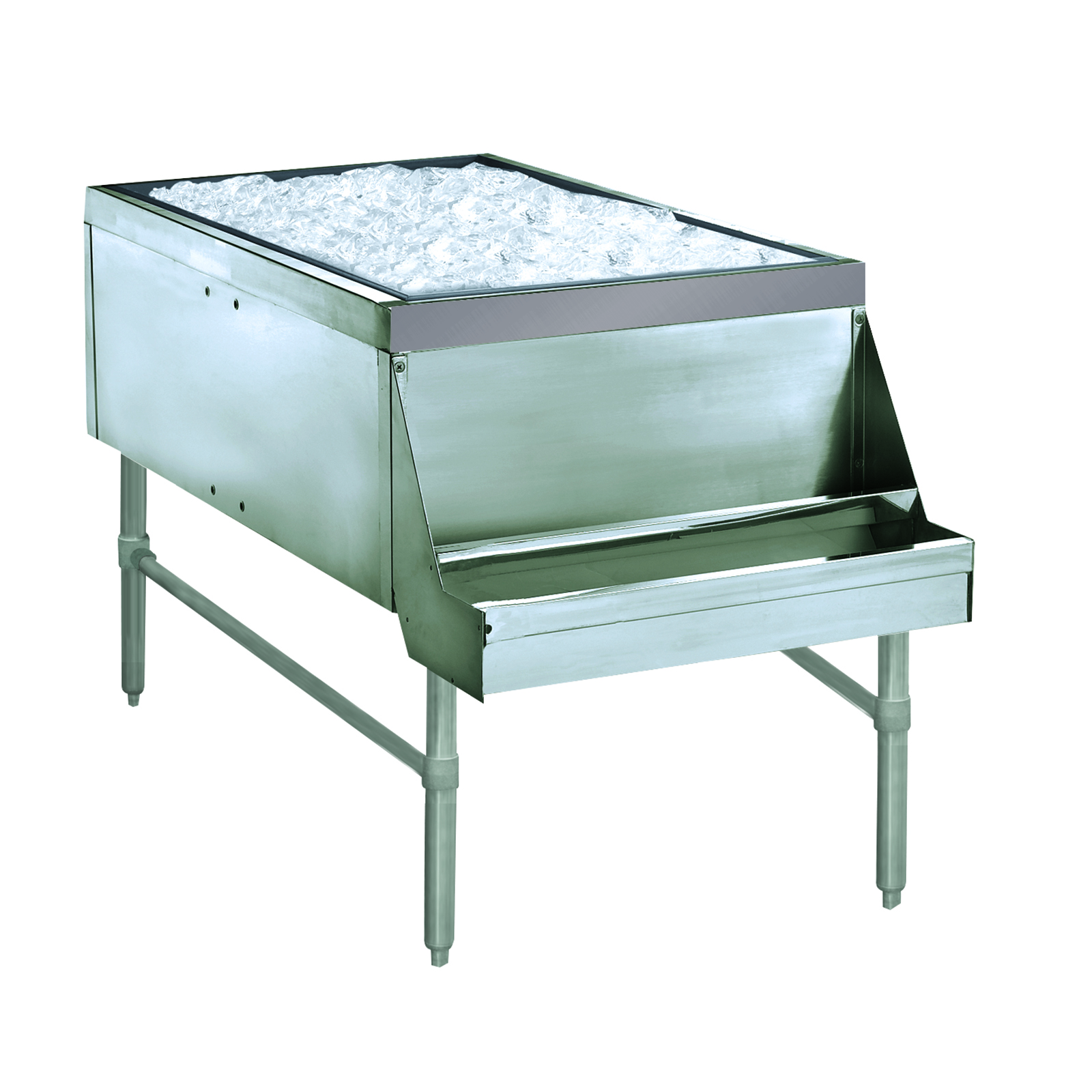 Advance Tabco PRPT-2442-10 underbar ice bin/cocktail station, pass-thru