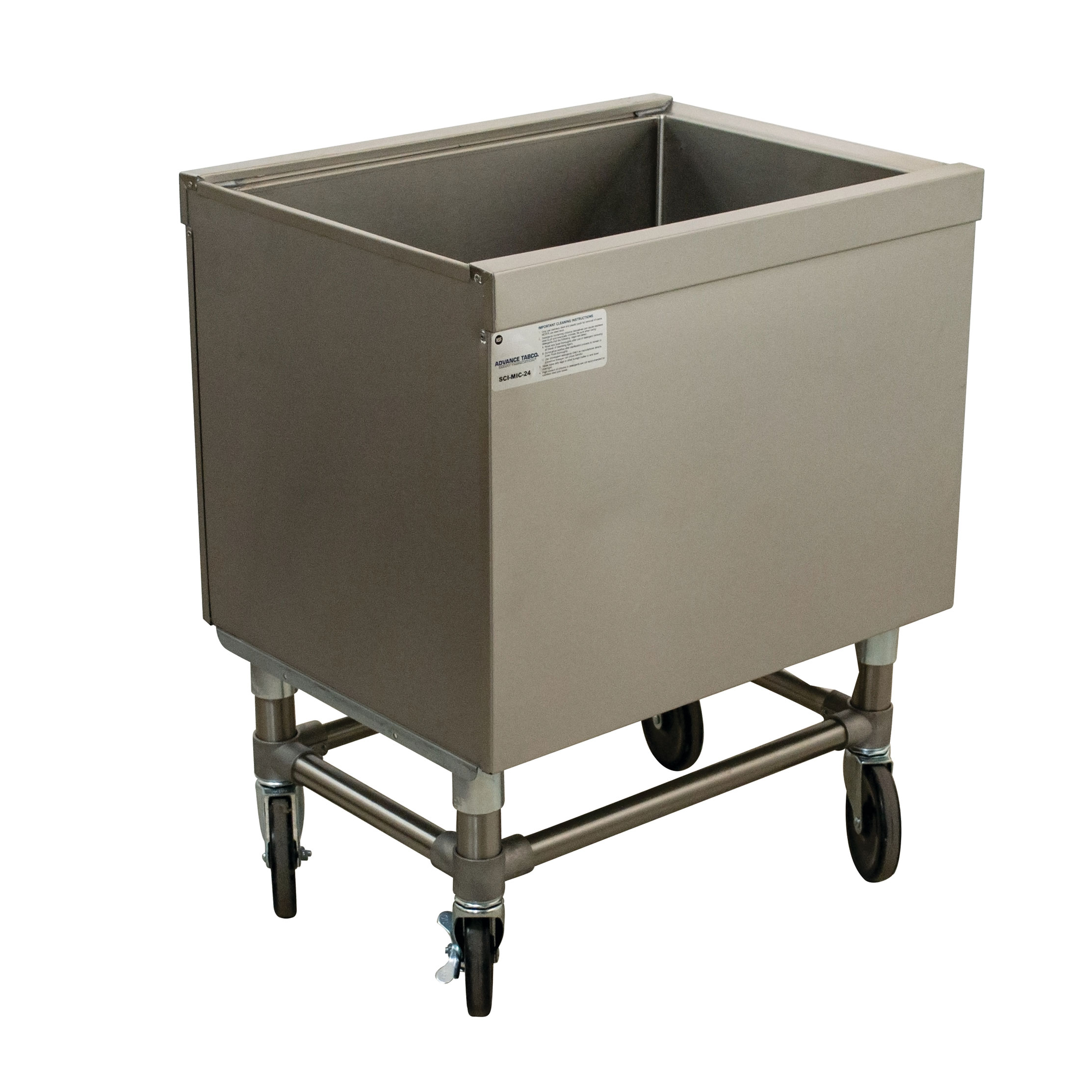 Advance Tabco SCI-MIC-24 ice bin / ice caddy , mobile