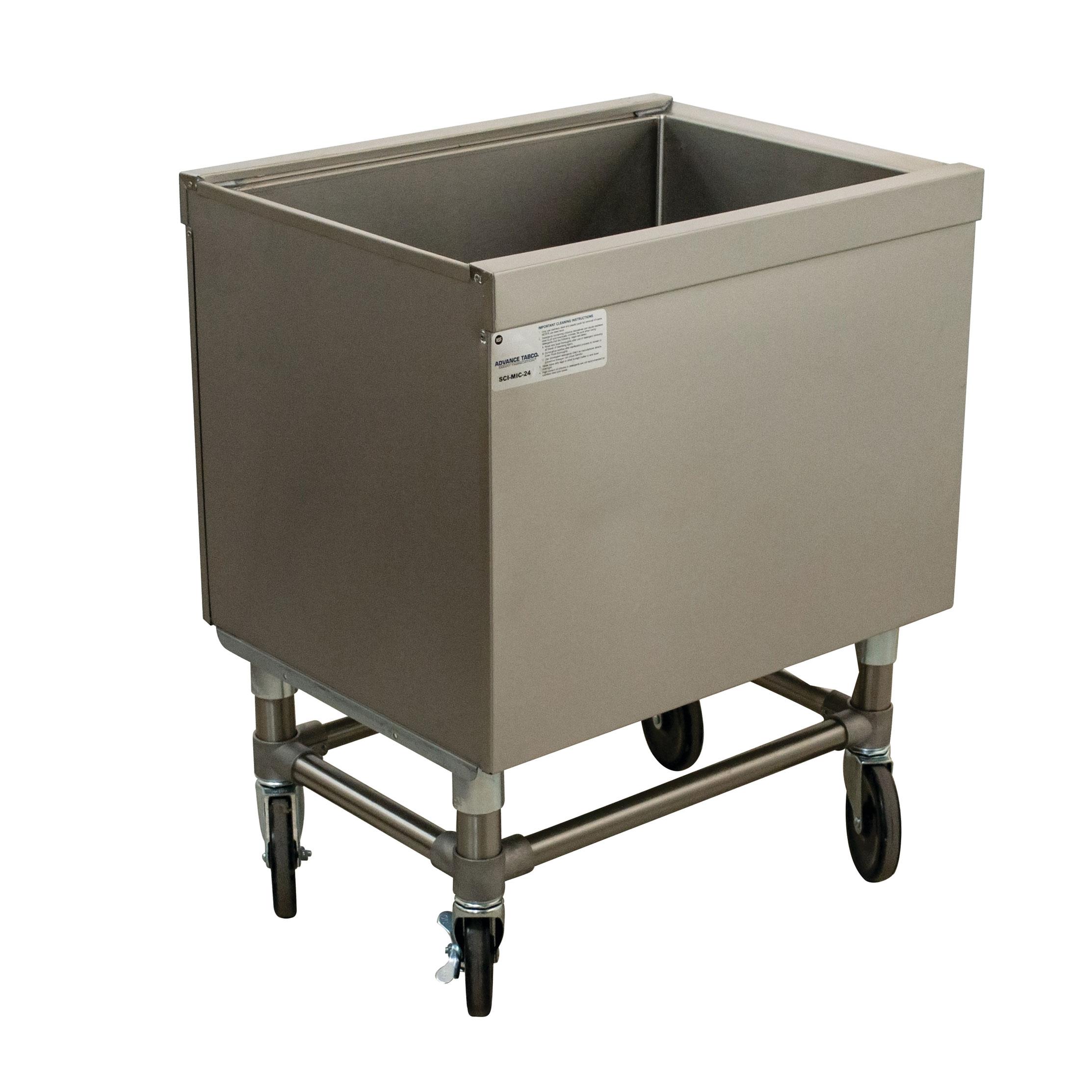 Advance Tabco SCI-MIC-24 ice bin / ice caddy , mobile
