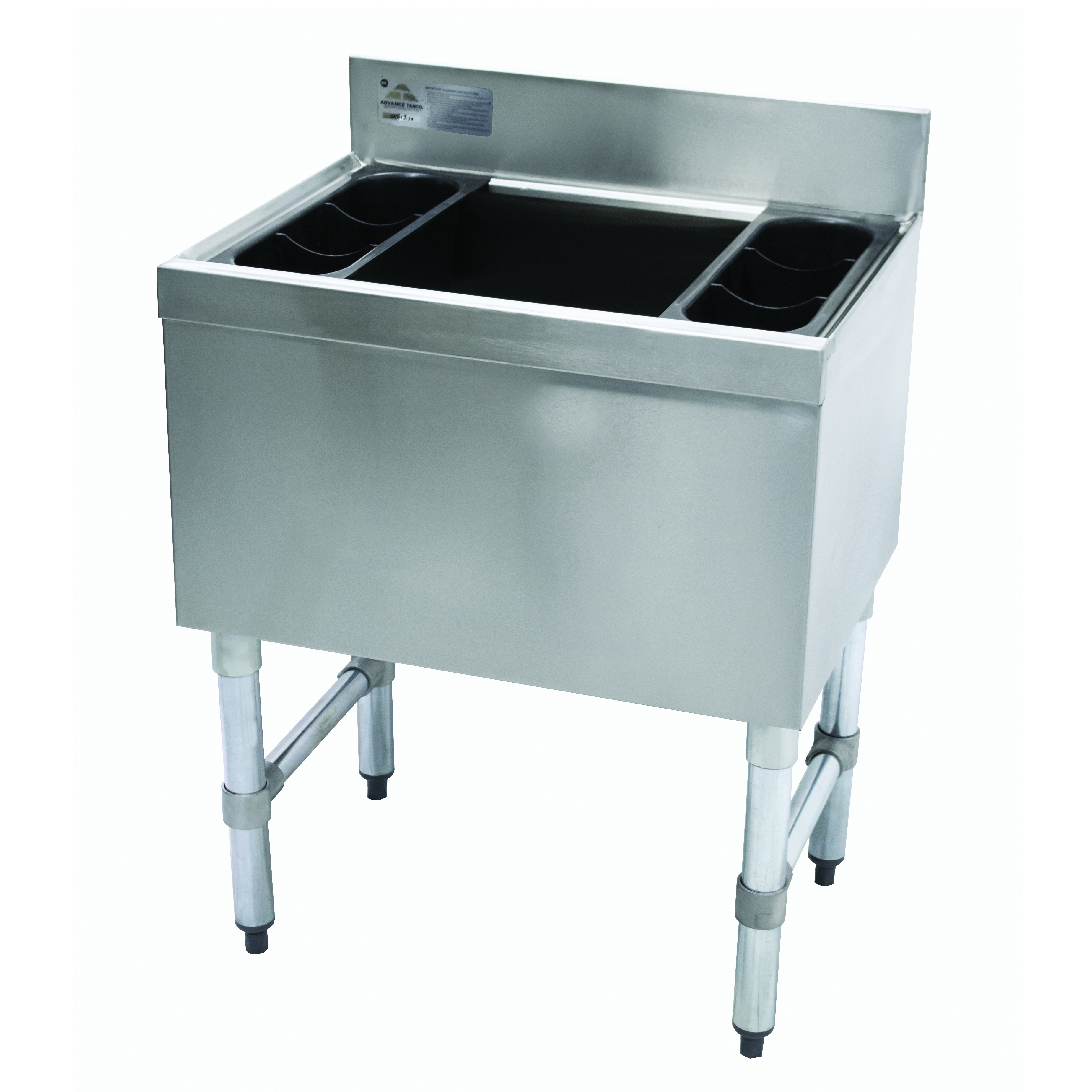 Advance Tabco SLI-12-30-X underbar ice bin/cocktail unit